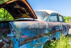 Chevy Bel-Air met Open Boomstam Stock Afbeelding