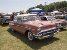 1957 Chevy Bel Air rosa Fotografia Stock