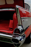 1957 Chevy BelAir. Fully restored red and white Chevrolet BelAir Royalty Free Stock Images