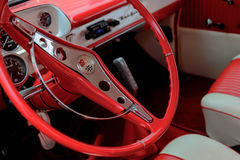 1957 Chevy BelAir. Fully restored red and white Chevrolet BelAir Stock Photography
