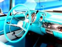 1957 Chevy Blue-binnenland Royalty-vrije Stock Afbeelding