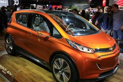 Chevy Bolt EV at the NAIAS Royalty Free Stock Images