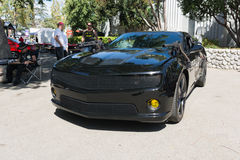 Chevy Camaro on display. Pomona, USA - March 12, 2016: Chevy Camaro Batmobile during 3rd Annual Street Machine and Muscle Car Nationals Stock Photo