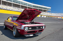 1968 Chevy Camaro SS 396. CONCORD, NC — September 24, 2016:  A 1968 Chevrolet Camaro SS 396 automobile on display at the Pennzoil AutoFair classic car show Royalty Free Stock Image