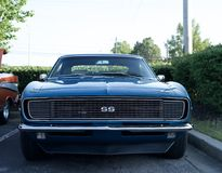 Chevy Camaro SS. The first-generation Chevrolet Camaro appeared in Chevrolet dealerships in September 1966 for the 1967 model year on a brand-new rear-wheel royalty free stock image