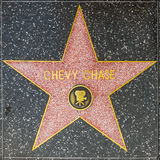 Chevy chase star on Hollywood Walk of Fame Royalty Free Stock Images