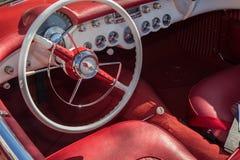Chevy Corvette interior 1953 Stock Images