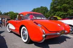 1957 Chevy Corvette Sports Car Royalty-vrije Stock Afbeeldingen