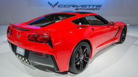 Chevy Corvette Stingray Reveal 2014 Photographie stock libre de droits