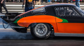 Chevy Corvette Warming Up immagine stock