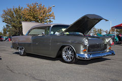 1955 Chevy Custom Bel-lucht Royalty-vrije Stock Foto
