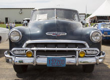 1952 Chevy DeLuxe Blue Front View Stock Photography