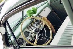 Chevy Deluxe Mint Green Interior millenovecentocinquanta immagine stock