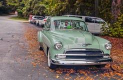Chevy Deluxe Mint Green millenovecentocinquanta immagine stock libera da diritti