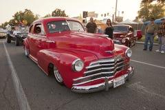 Chevy Fleetline vermelho Fotografia de Stock Royalty Free