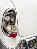 1956 Chevy gas filler door Stock Image