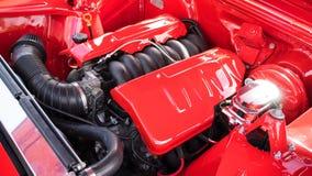 Chevy hotrod motor Royalty-vrije Stock Afbeelding