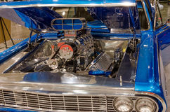 Chevy Impala Hot Rod Engine Image stock