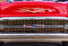 1960 Chevy Impala SS. Front view of a 1960 Chevrolet taken August, 2011 at a classic car show in Washington,m State Royalty Free Stock Image