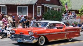 Chevy Impala sulla parata Fotografie Stock Libere da Diritti