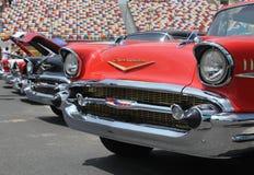 chevy klassisk rad för 57 bilar Royaltyfri Foto