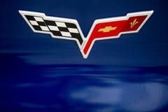 Chevy korwety emblemat Fotografia Royalty Free