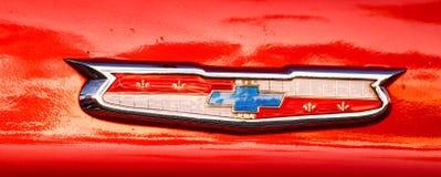 Chevy logo od 1950 ` s samochodu Zdjęcia Stock