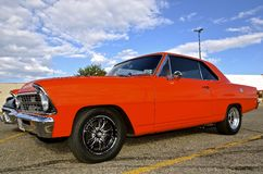 Chevy Nova classico alla manifestazione di automobile Fotografia Stock