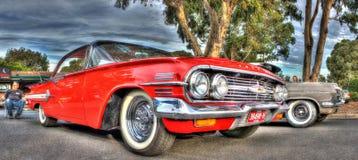 Chevy rojo clásico Foto de archivo