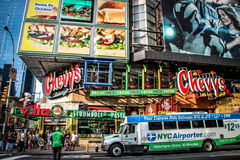 Chevy's Fresh Mex at Times Square, New York Royalty Free Stock Photos