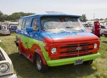 1974 Chevy Scooby Doo Mystery Machine-Bestelwagen Stock Afbeeldingen