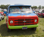 Chevy Scooby Doo Mystery Machine 1974 Van Front View foto de archivo