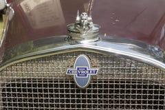 Chevy Special Sedan Hood 1931 och galler Arkivfoto