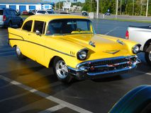 55 chevy street rod. THIS WAS TAKEN AT MY LOCAL CARSHOE IN BEVERLYHILLS,FL LAST SATURDAY Stock Photo