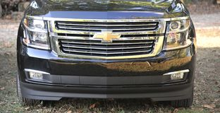 Chevy Tahoe in a Field Royalty Free Stock Photo