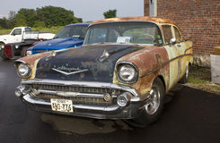 1957 Chevy Two Door Sedan Stock Foto