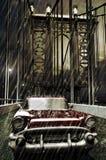 Chevy under rain. Red chevy crossing the Manhattan bridge, under the rain Royalty Free Stock Photography