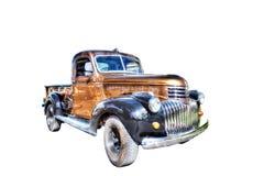 Chevy 1946 väljer upp lastbilen som isoleras på ingen bakgrund Arkivbild