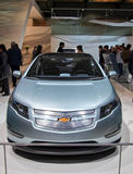 Chevy Volt at the Geneva International Motor Show Royalty Free Stock Images