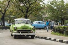 Chevytaxi Havana Royalty-vrije Stock Afbeeldingen