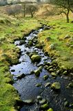Chew brook. Leading to Dovestone reservoir in the Peak District National Park royalty free stock photos