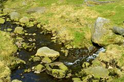 Chew brook. Leading to Dovestone reservoir in the Peak District National Park stock photos