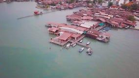 Penang Chew Jetty Drone Shot 4K