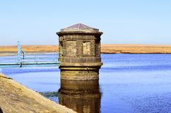 Chew reservoir. Above the village of Greenfield, on Saddleworth Moor in Greater Manchester royalty free stock image