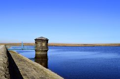 Chew reservoir. Above the village of Greenfield, on Saddleworth Moor in Greater Manchester stock image