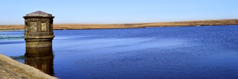 Chew reservoir. Above the village of Greenfield, on Saddleworth Moor in Greater Manchester royalty free stock photos