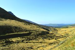 Chew valley. Above Dovestone reservoir in the Peak District National Park royalty free stock photography