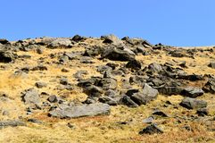 Chew valley summit. Above Dovestone reservoir in the Peak District National Park stock photo