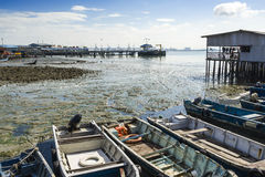Chew Village Jetty, Penang, Malaysia. Chew Jetty, one of the Clan Jetties in historic George Town, Penang, Malaysia Stock Photos