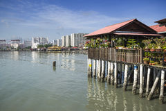 Chew Village Jetty, Penang, Malaysia. Chew Jetty, one of the Clan Jetties in historic George Town, Penang, Malaysia Royalty Free Stock Photography